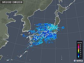 広く秋雨 九州は100ミリ超の雨