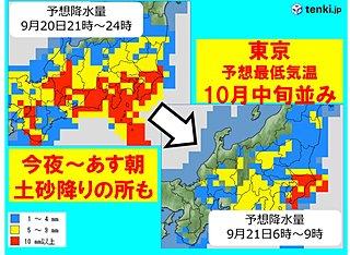 関東 雨のピークは 都心は今季初15度か