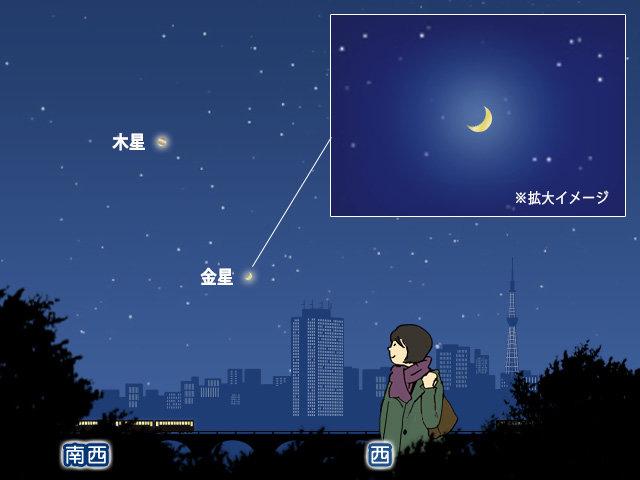今宵 金星が最も輝く 昼間でも見えるほど