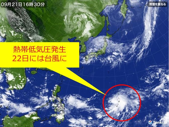 また台風の卵 今後の日本への影響は