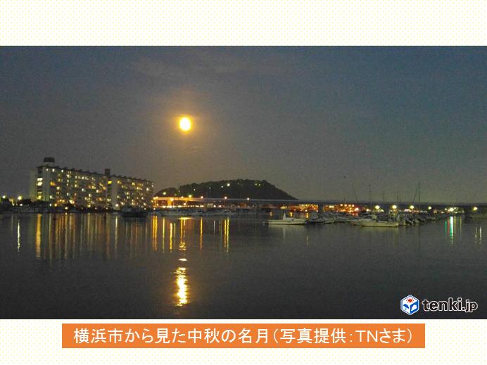東京都心の空「中秋の名月」が綺麗です_画像