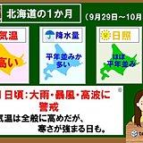 北海道1か月 台風24号で大荒れ、寒さも