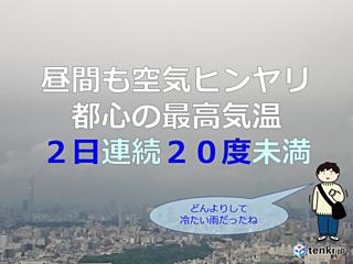 10年ぶり 都心の最高気温 20度未満
