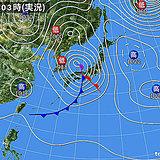 1日の天気 春の嵐 気温上昇