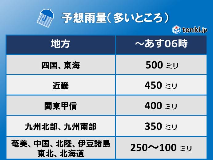 台風24号 九州最接近、四国から近畿上陸か