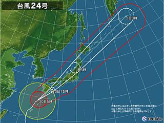 台風24号 九州から近畿に接近・上陸か