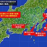 千葉県でも暴風 40メートル超
