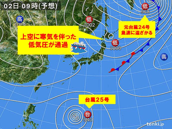 台風のあとは寒冷渦 再び大荒れ 東北