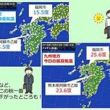 朝と日中の気温差大きい 九州