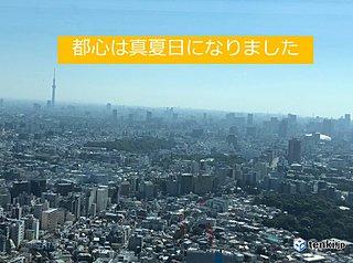 東京都心で真夏日 10月最多に並ぶ