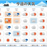週間 秋晴れは少ない 後半は東京も肌寒く