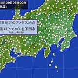都心3日ぶり20度下回る朝 関東ヒンヤリ