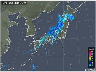 寒冷前線南下中 三重県で激しい雨
