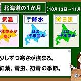 北海道の1か月 紅葉と初雪の季節へ