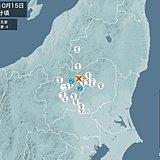 栃木県北部で震度4の地震