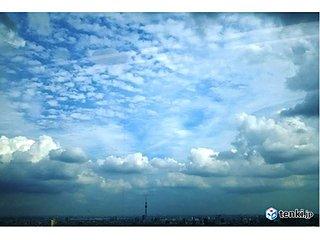 東京都心 正午の「晴れ」 一週間ぶり