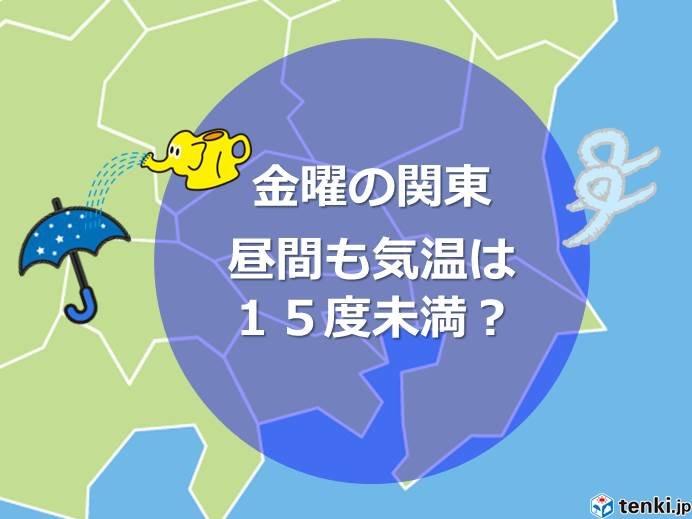 金曜の関東 急に寒くなる 15度届かず?