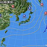22日も広く秋晴れ でも西から雨雲ジワリ