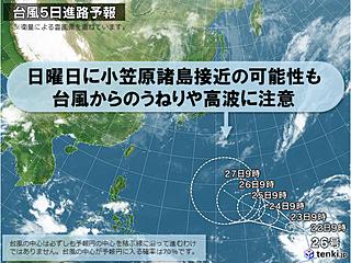台風は発達しながら西へ 過去10月上陸も