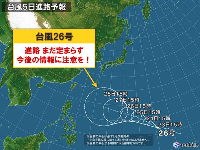 台風26号 金曜日には猛烈な台風に