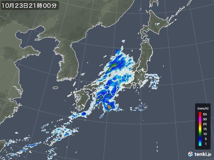 水曜にかけて激しい雨 台風26号は猛烈へ