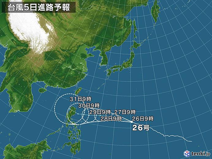 台風26号の進路は