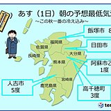 氷が張るほどの冷え込みの所も 九州