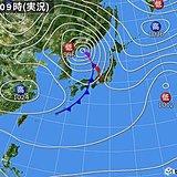北海道 南西部中心に大雨の恐れ