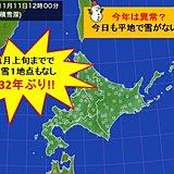 北海道で初雪観測なし 132年ぶりの遅さ