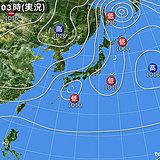 13日 北海道で初雪か?関東は気温横ばい