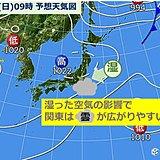 関東・日曜はきょうより気温4度もダウン