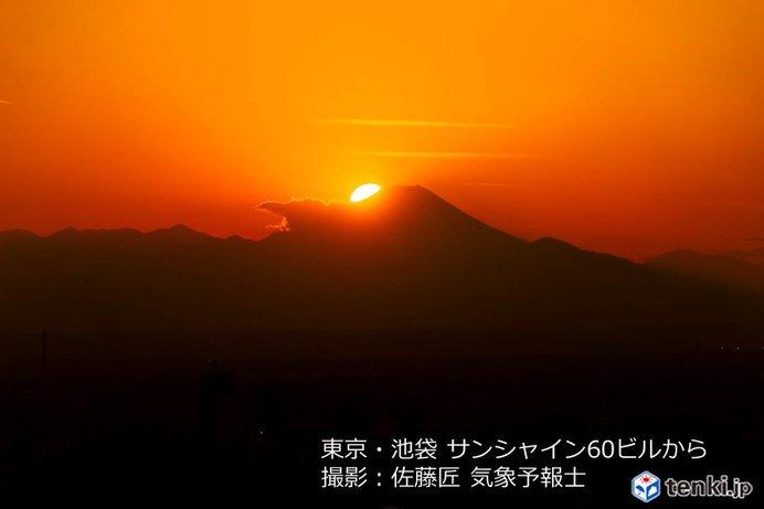 晴れて富士山見えた ダイヤモンド富士は?