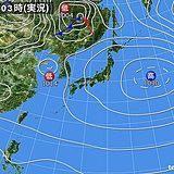 3日 西日本中心に雨 北日本だけ晴れる