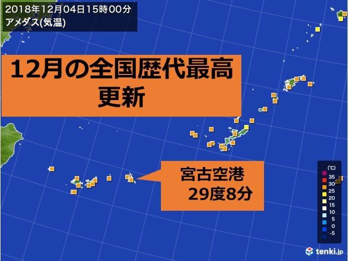 歴代最高 沖縄で記録的な高温