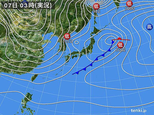 7日 強い寒気ジワリ 西日本で初雪か