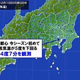 東京都心 今季初めて5度を下回った
