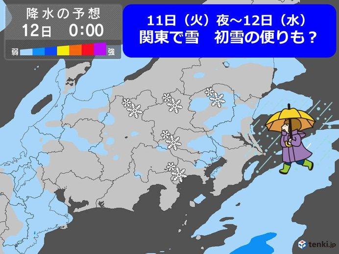 あす更に寒い朝 東京3度 夜関東で雨や雪