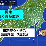 東京都心 きょうも10度に届かず