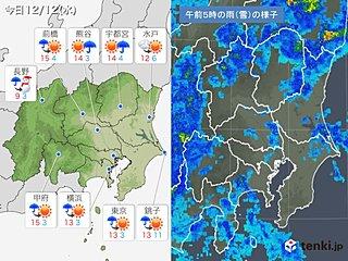 12日 関東 天気は回復へ 寒さ和らぐ