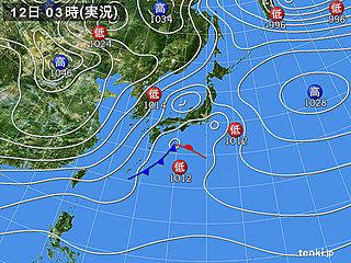12日 天気回復も体感寒く 北は冬の嵐