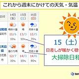 大掃除は15日(土)がお勧め! 九州