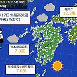 あす(18日)まで風が冷たい 九州