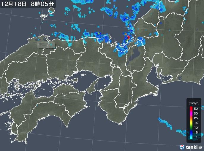 近畿 北部を中心に雨や雪の所も