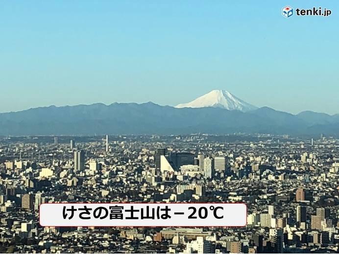 富士山 平年並みの寒さです