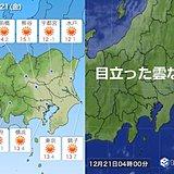 21日の関東 今年最後の穏やかな陽気か?