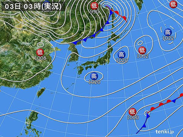 3日 東北から九州 5~6月並みの気温