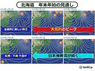 北海道 最強寒波引き連れた冬将軍が大暴れ