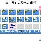 都心10日も雨降らず 桜の時期には珍しい