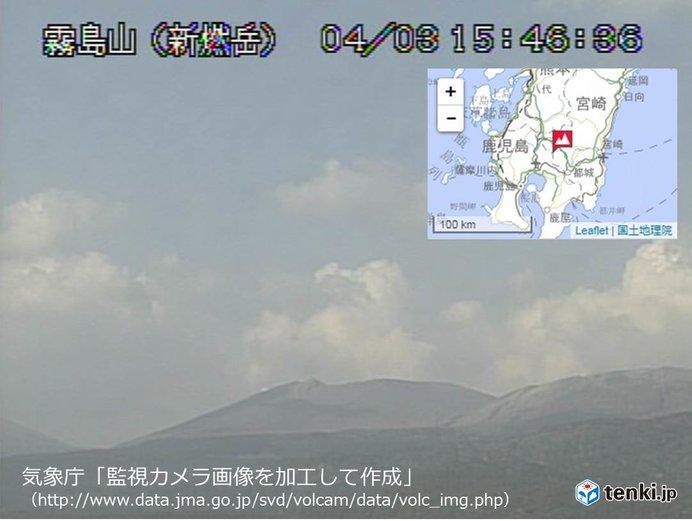 新燃岳 火山性地震が増加