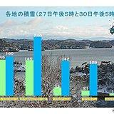 大晦日 日本海側は北から東で更に積雪増